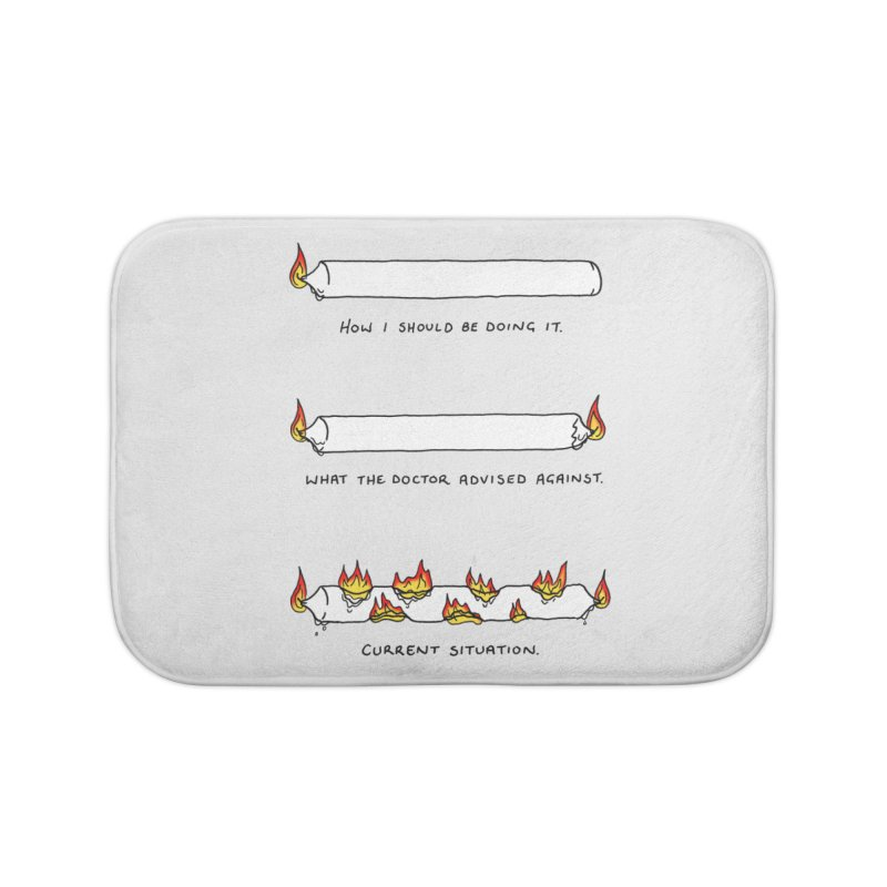Burning That Candle. Home Bath Mat by Prinstachaaz