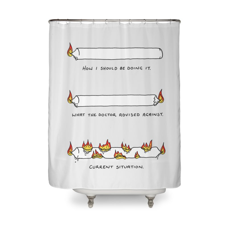 Burning That Candle. Home Shower Curtain by Prinstachaaz