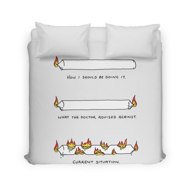 Burning That Candle. Home Duvet by Prinstachaaz