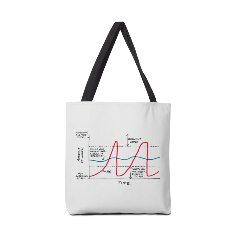 Work/Life Balance Accessories Tote Bag Bag by Prinstachaaz