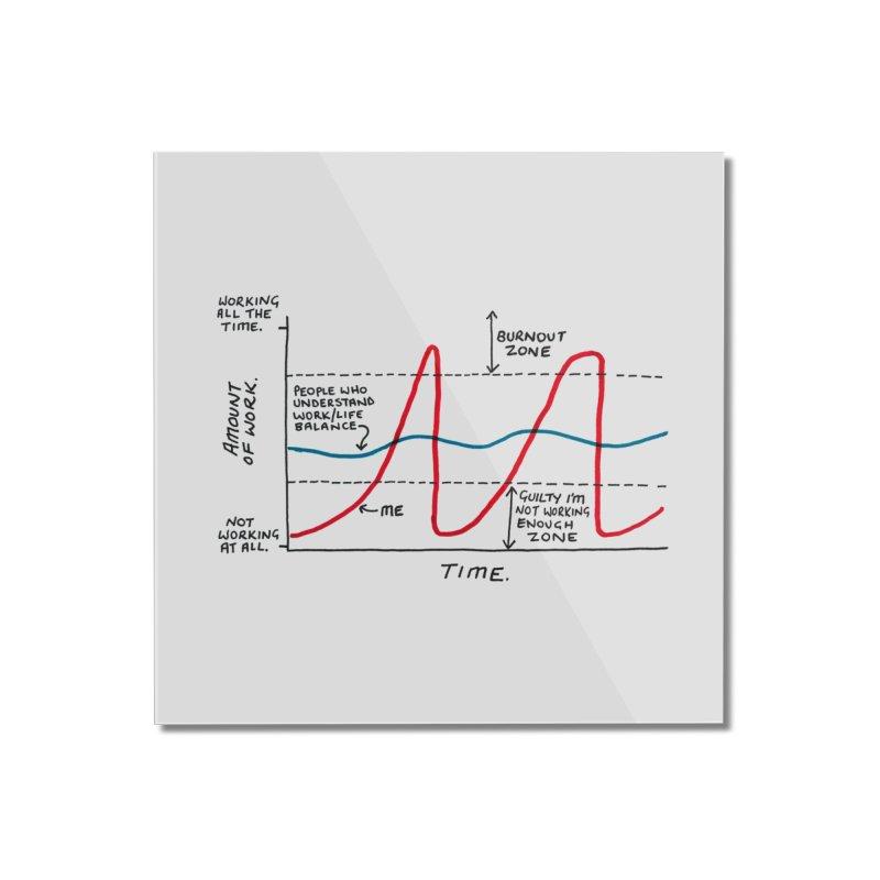 Work/Life Balance Home Mounted Acrylic Print by Prinstachaaz