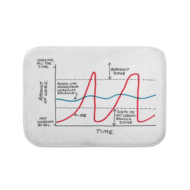 Work/Life Balance Home Bath Mat by Prinstachaaz