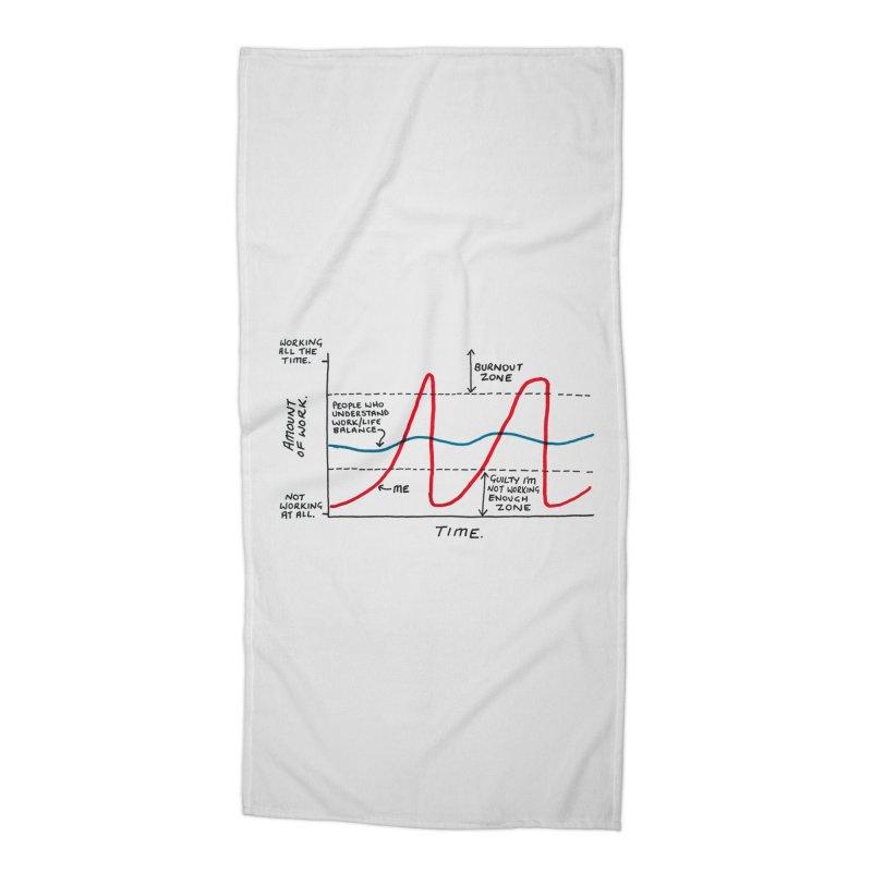 Work/Life Balance Accessories Beach Towel by Prinstachaaz