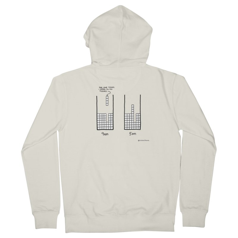 Close Enough. Men's French Terry Zip-Up Hoody by Prinstachaaz