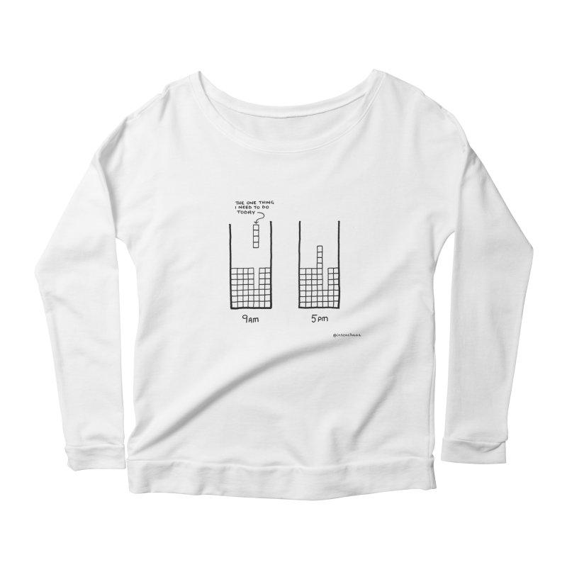 Close Enough. Women's Scoop Neck Longsleeve T-Shirt by Prinstachaaz