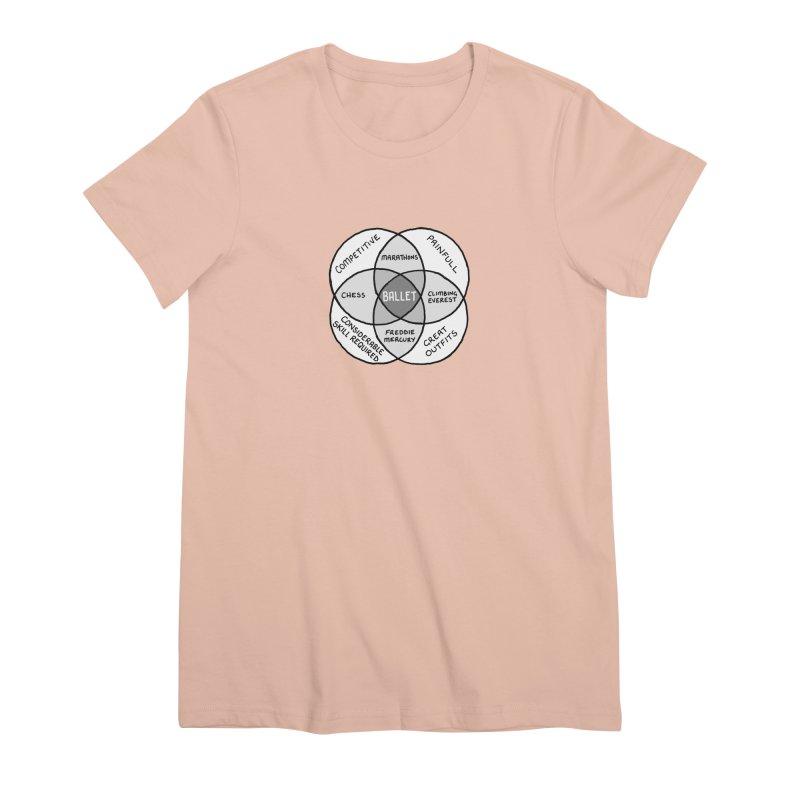 BALLET Women's Premium T-Shirt by Prinstachaaz