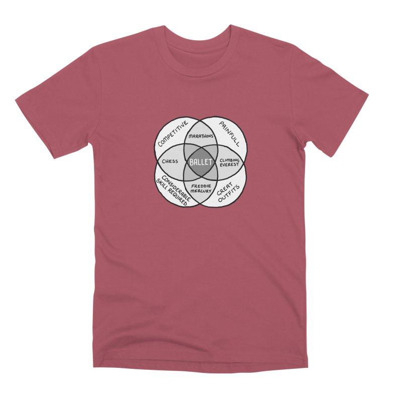 BALLET Men's Premium T-Shirt by Prinstachaaz