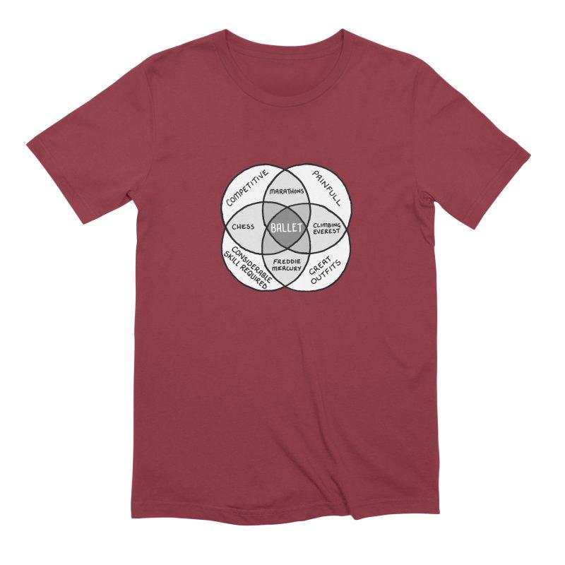 BALLET Men's Extra Soft T-Shirt by Prinstachaaz