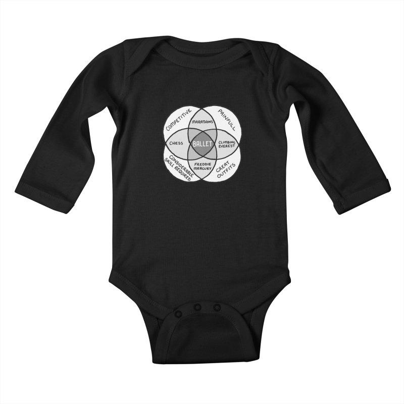 BALLET Kids Baby Longsleeve Bodysuit by Prinstachaaz