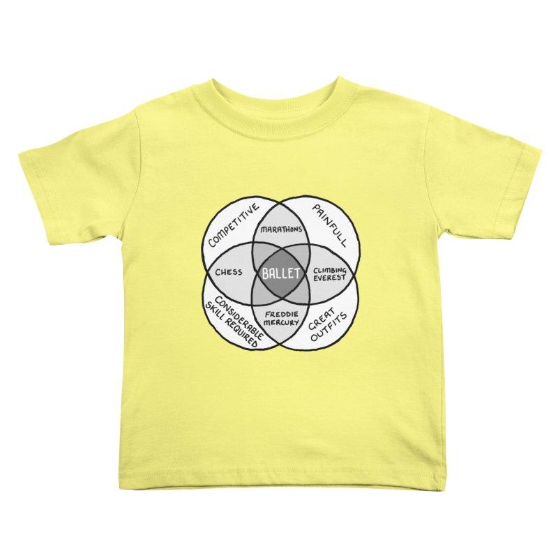 BALLET Kids Toddler T-Shirt by Prinstachaaz