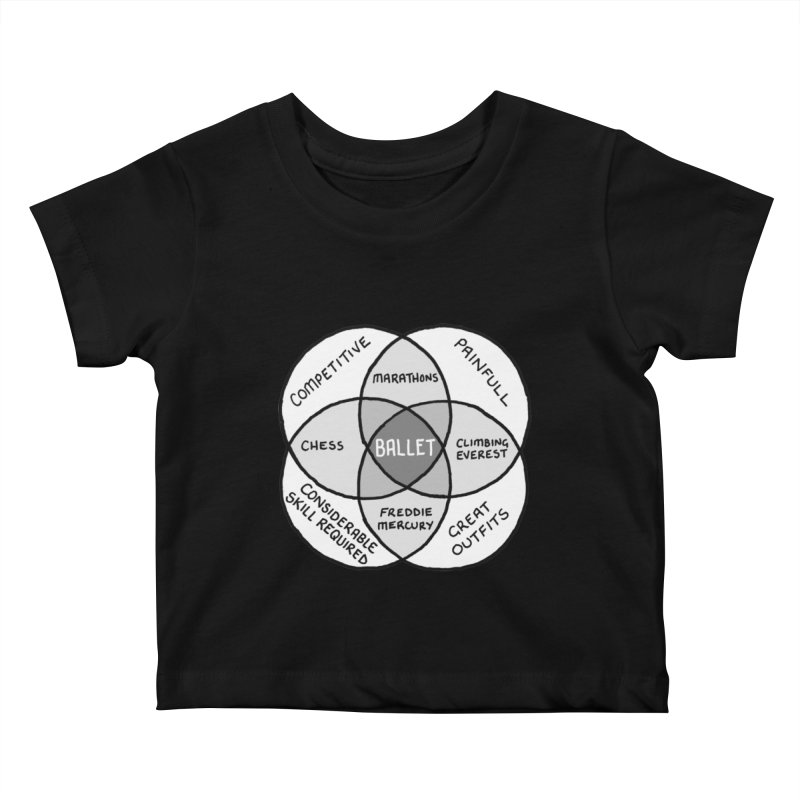 BALLET Kids Baby T-Shirt by Prinstachaaz