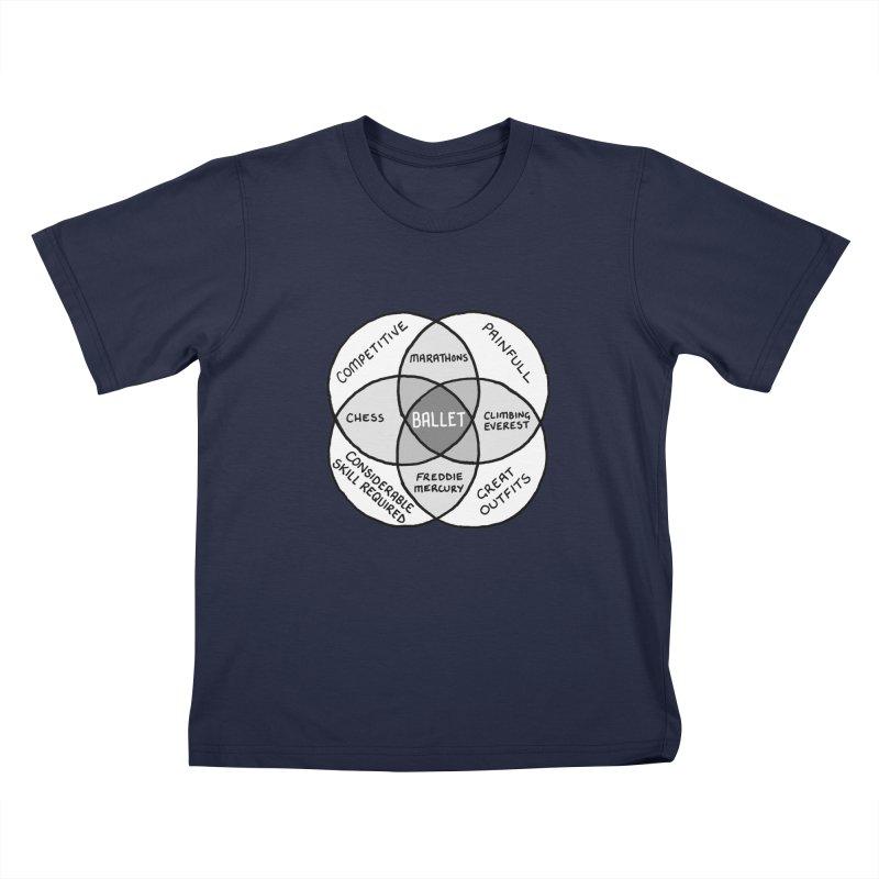 BALLET Kids T-Shirt by Prinstachaaz