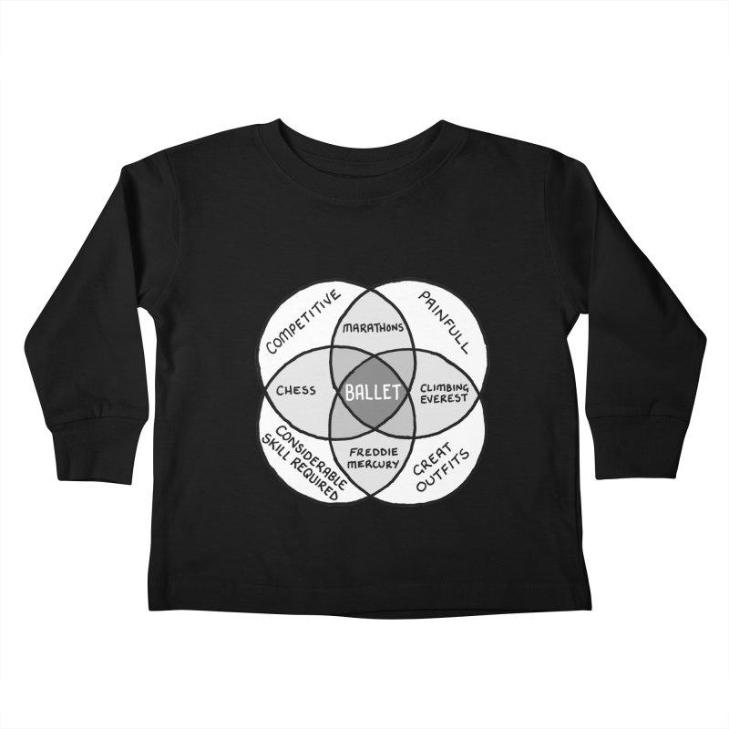 BALLET Kids Toddler Longsleeve T-Shirt by Prinstachaaz