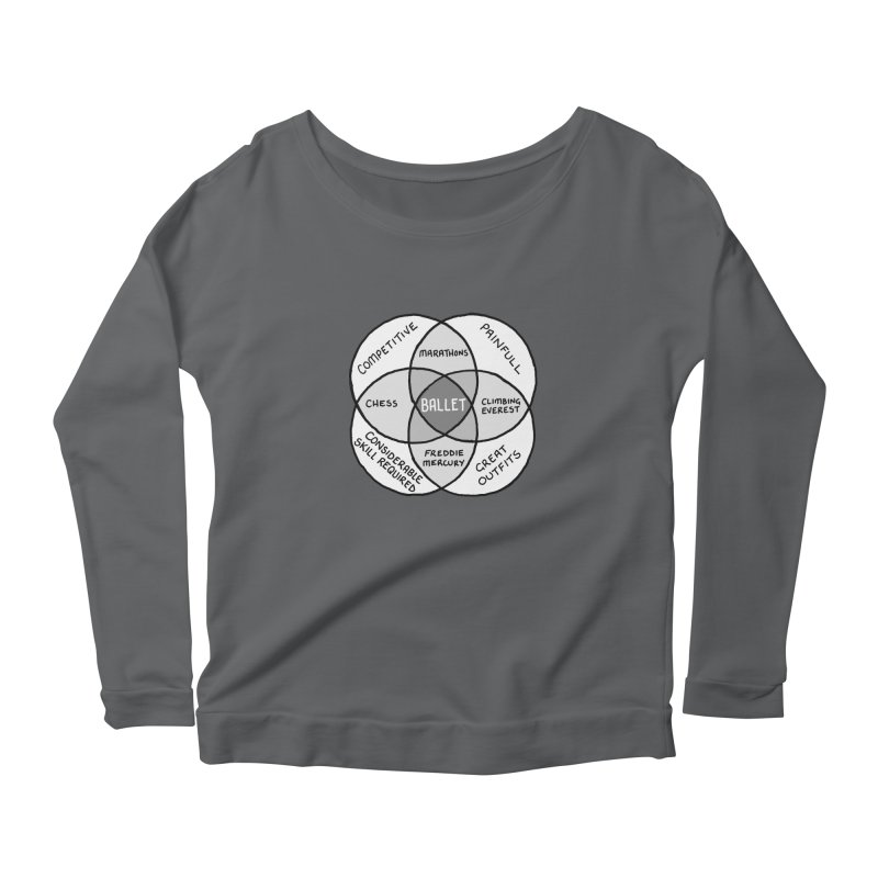 BALLET Women's Scoop Neck Longsleeve T-Shirt by Prinstachaaz