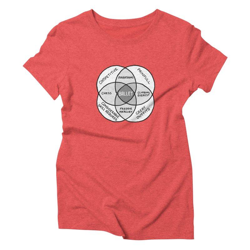 BALLET Women's Triblend T-Shirt by Prinstachaaz
