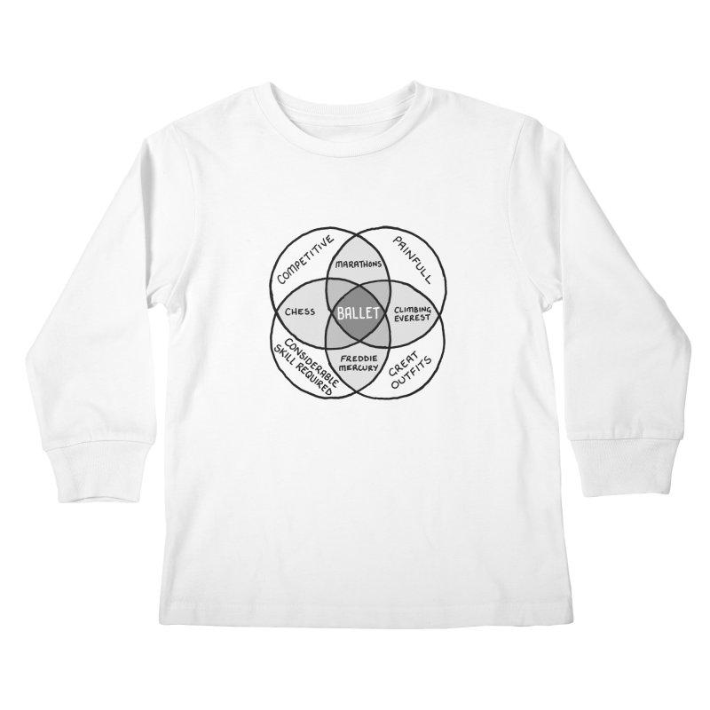BALLET Kids Longsleeve T-Shirt by Prinstachaaz