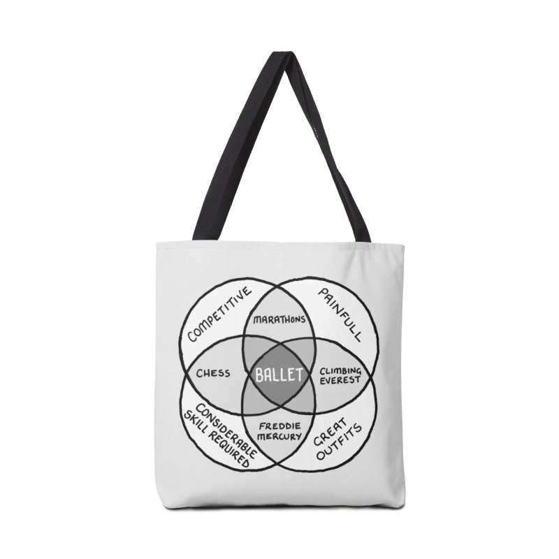 BALLET Accessories Tote Bag Bag by Prinstachaaz