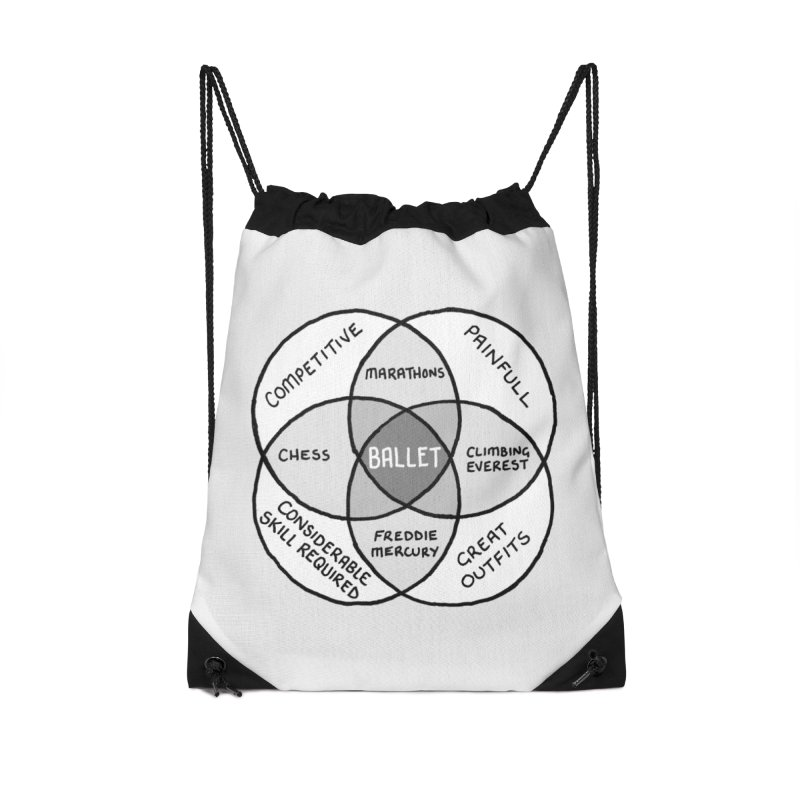 BALLET Accessories Drawstring Bag Bag by Prinstachaaz
