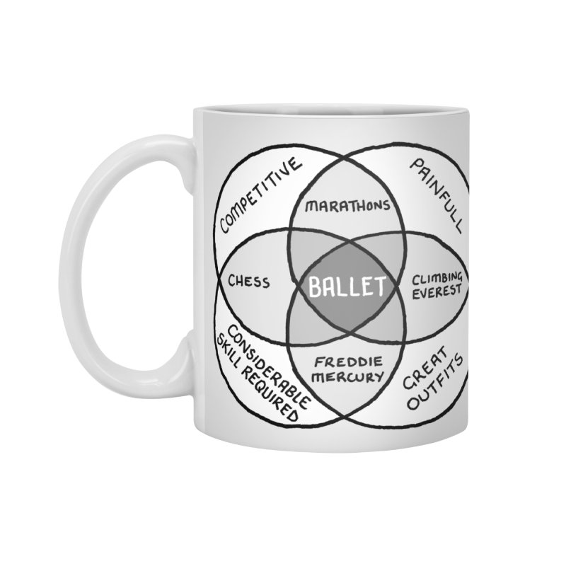 BALLET Accessories Standard Mug by Prinstachaaz