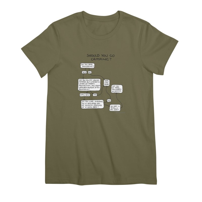 Should You Go Camping? Women's Premium T-Shirt by Prinstachaaz
