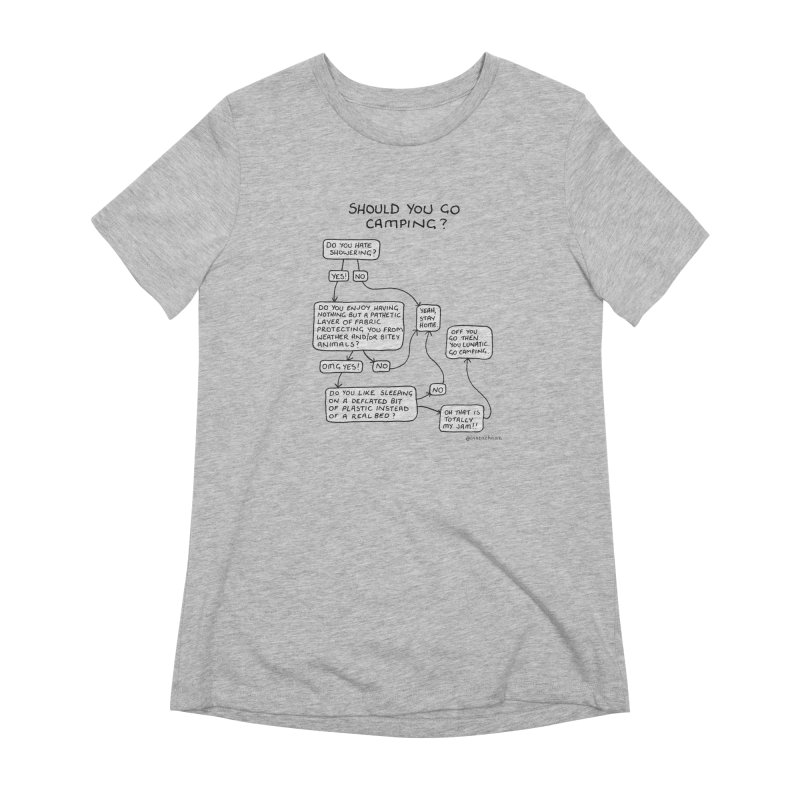 Should You Go Camping? Women's Extra Soft T-Shirt by Prinstachaaz
