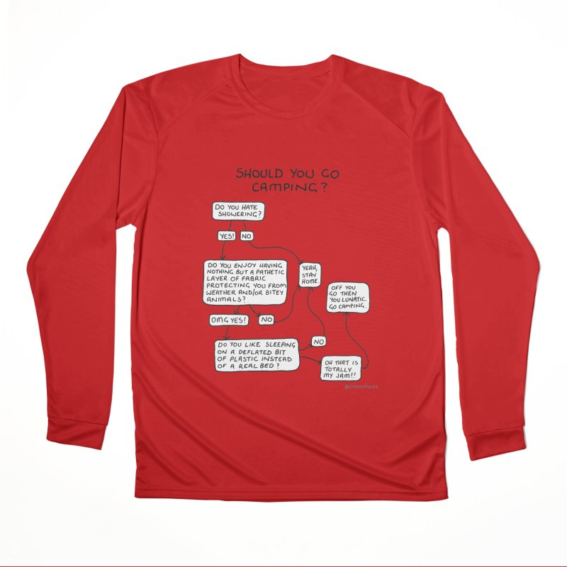 Should You Go Camping? Men's Performance Longsleeve T-Shirt by Prinstachaaz