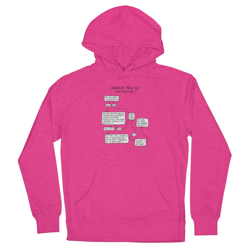 Should You Go Camping? Women's French Terry Pullover Hoody by Prinstachaaz