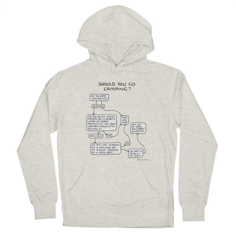 Should You Go Camping? Men's French Terry Pullover Hoody by Prinstachaaz