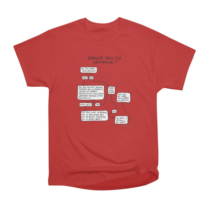 Should You Go Camping? Men's Heavyweight T-Shirt by Prinstachaaz