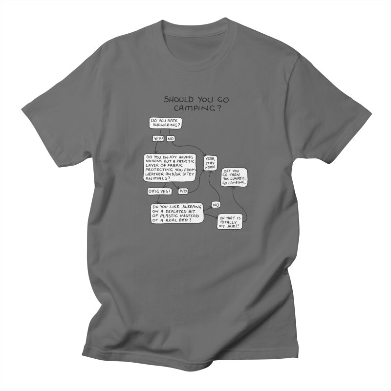 Should You Go Camping? Men's T-Shirt by Prinstachaaz
