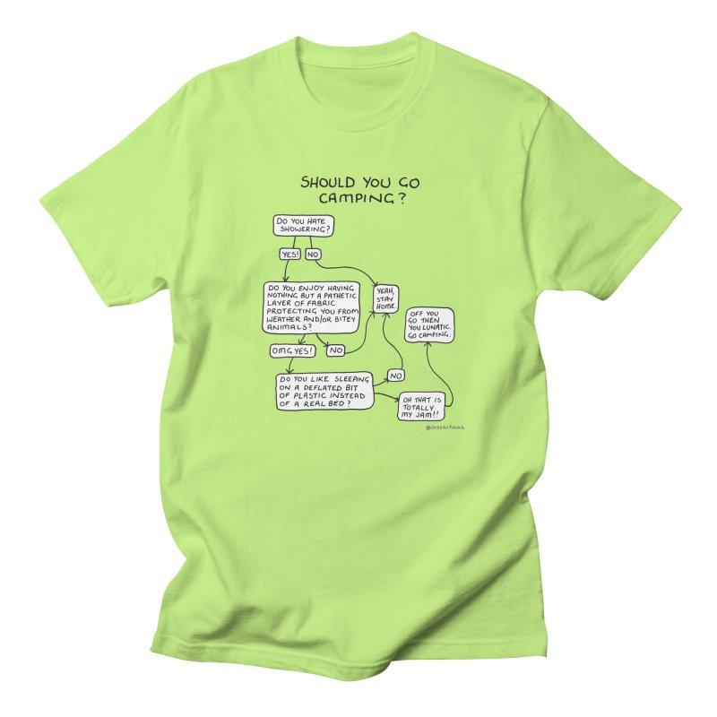 Should You Go Camping? Women's Regular Unisex T-Shirt by Prinstachaaz