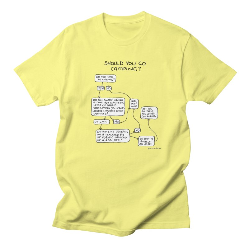 Should You Go Camping? Men's Regular T-Shirt by Prinstachaaz