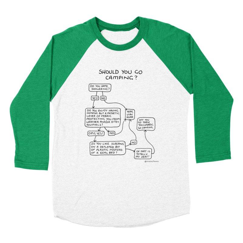 Should You Go Camping? Women's Baseball Triblend Longsleeve T-Shirt by Prinstachaaz