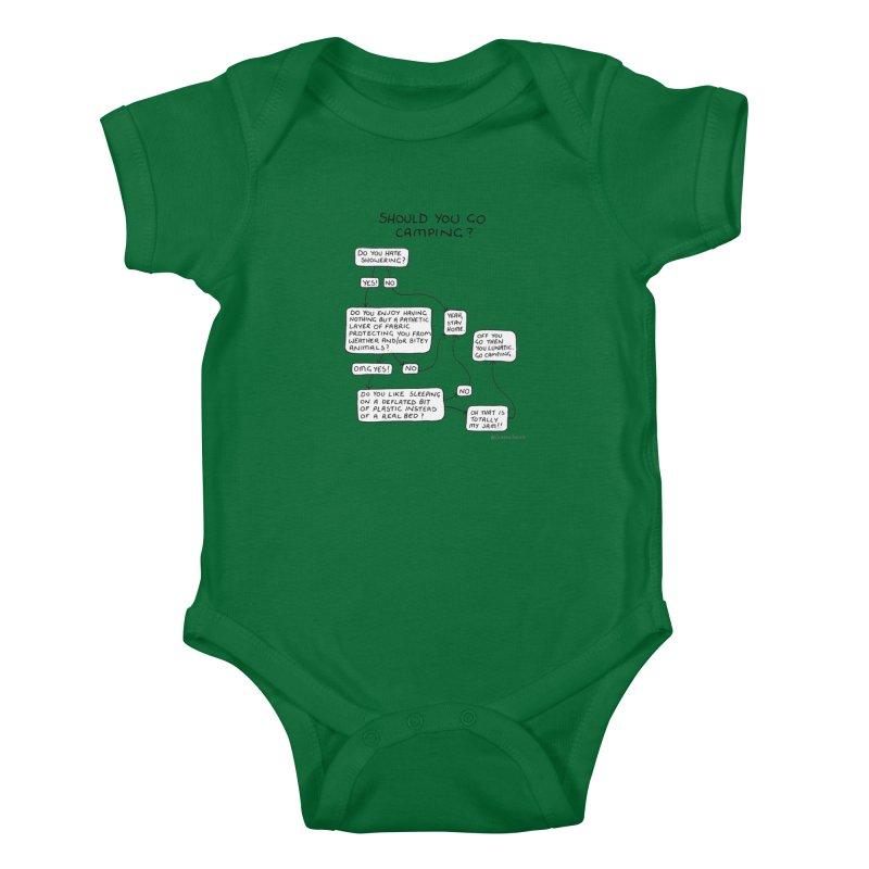 Should You Go Camping? Kids Baby Bodysuit by Prinstachaaz