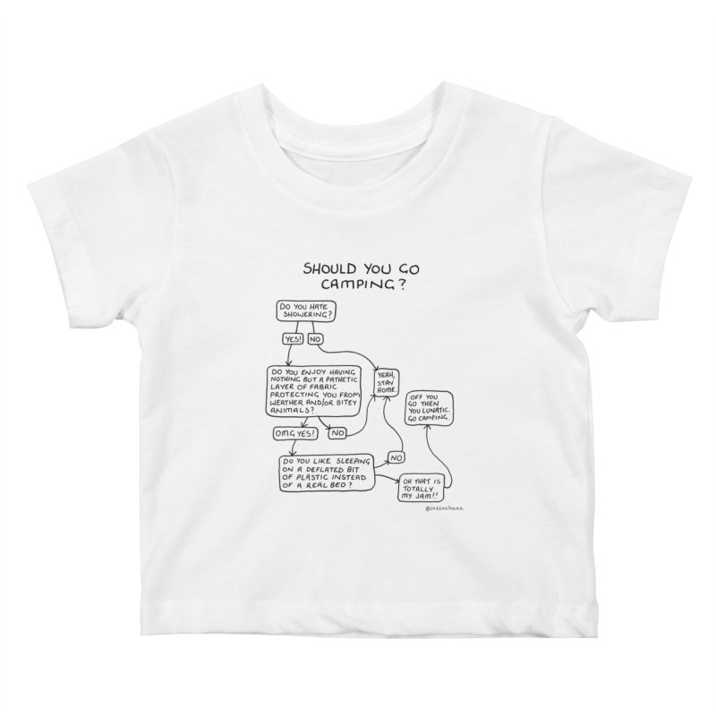 Should You Go Camping? Kids Baby T-Shirt by Prinstachaaz