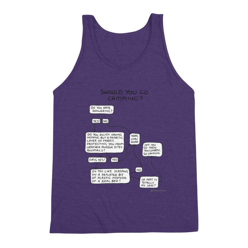 Should You Go Camping? Men's Triblend Tank by Prinstachaaz