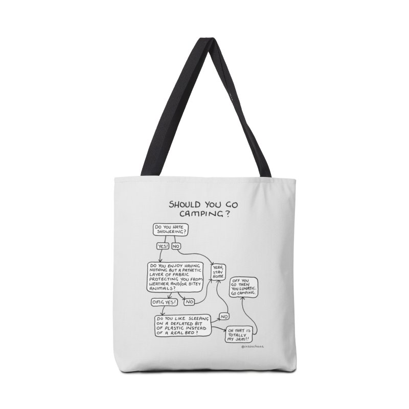 Should You Go Camping? Accessories Tote Bag Bag by Prinstachaaz