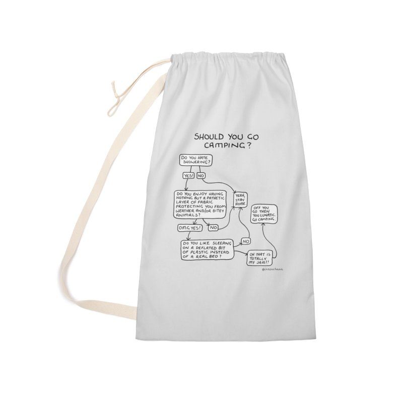 Should You Go Camping? Accessories Laundry Bag Bag by Prinstachaaz