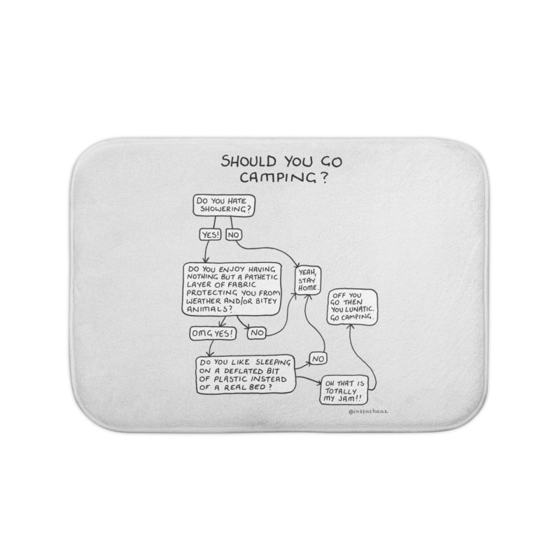 Should You Go Camping? Home Bath Mat by Prinstachaaz