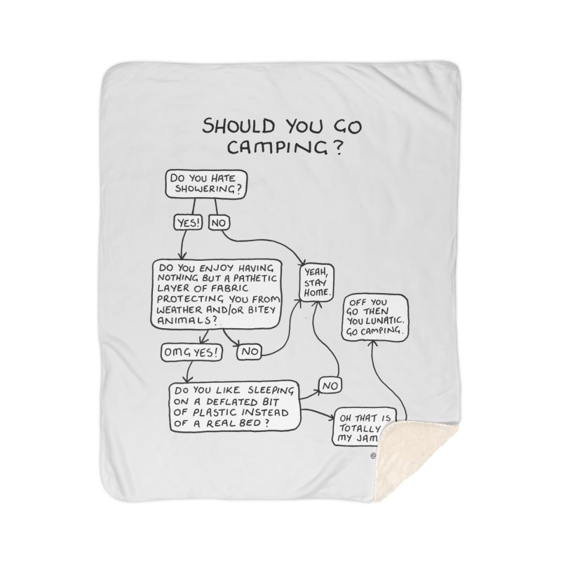 Should You Go Camping? Home Sherpa Blanket Blanket by Prinstachaaz