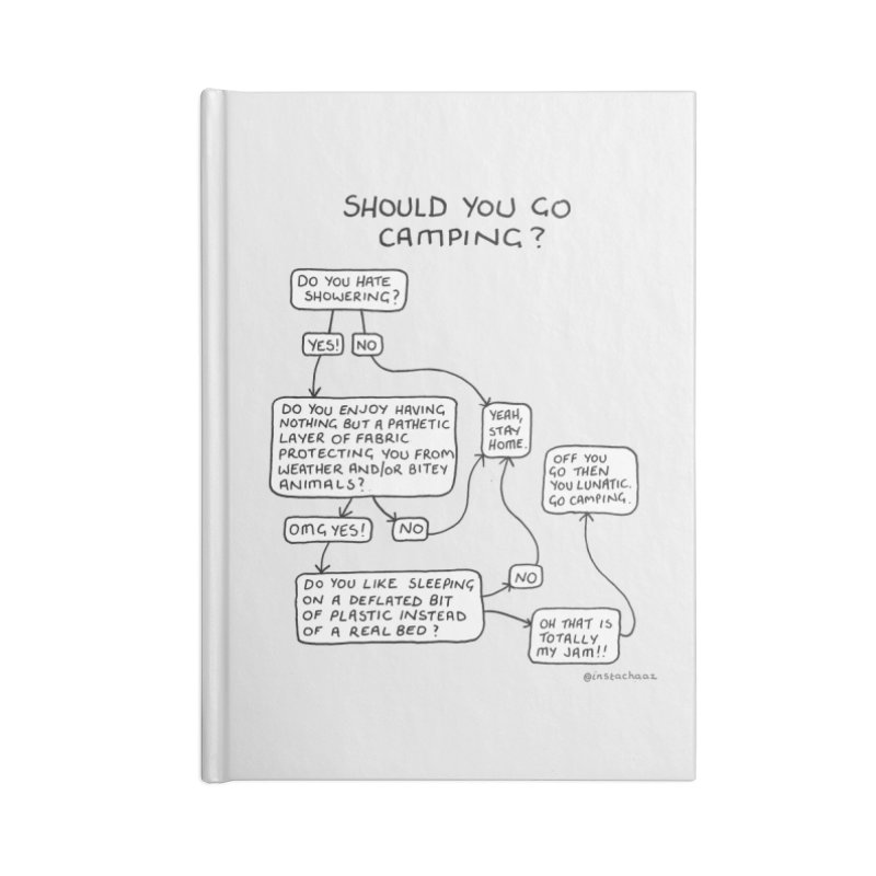 Should You Go Camping? Accessories Lined Journal Notebook by Prinstachaaz