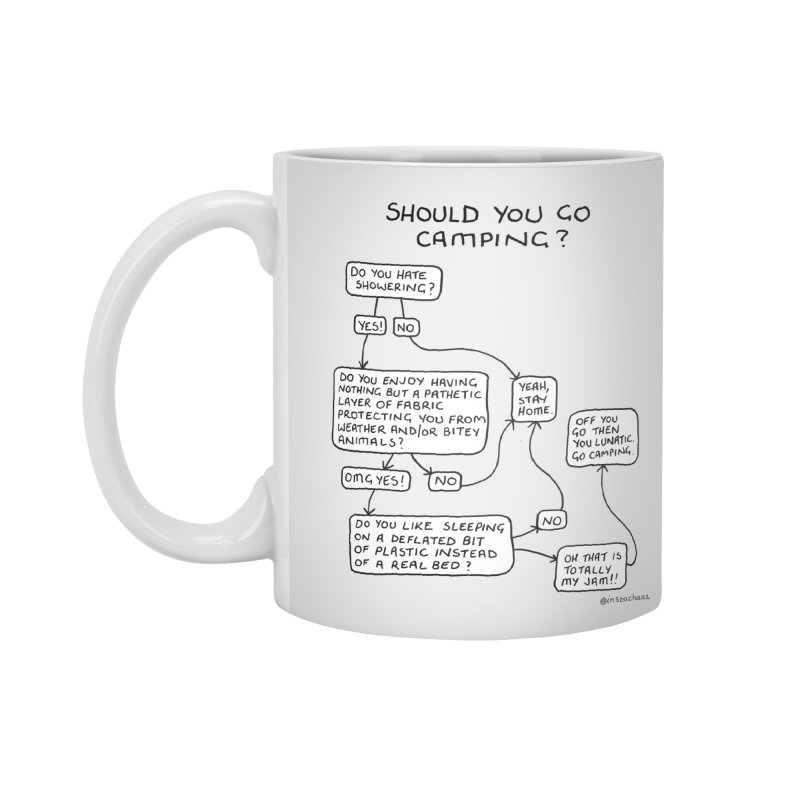Should You Go Camping? Accessories Standard Mug by Prinstachaaz