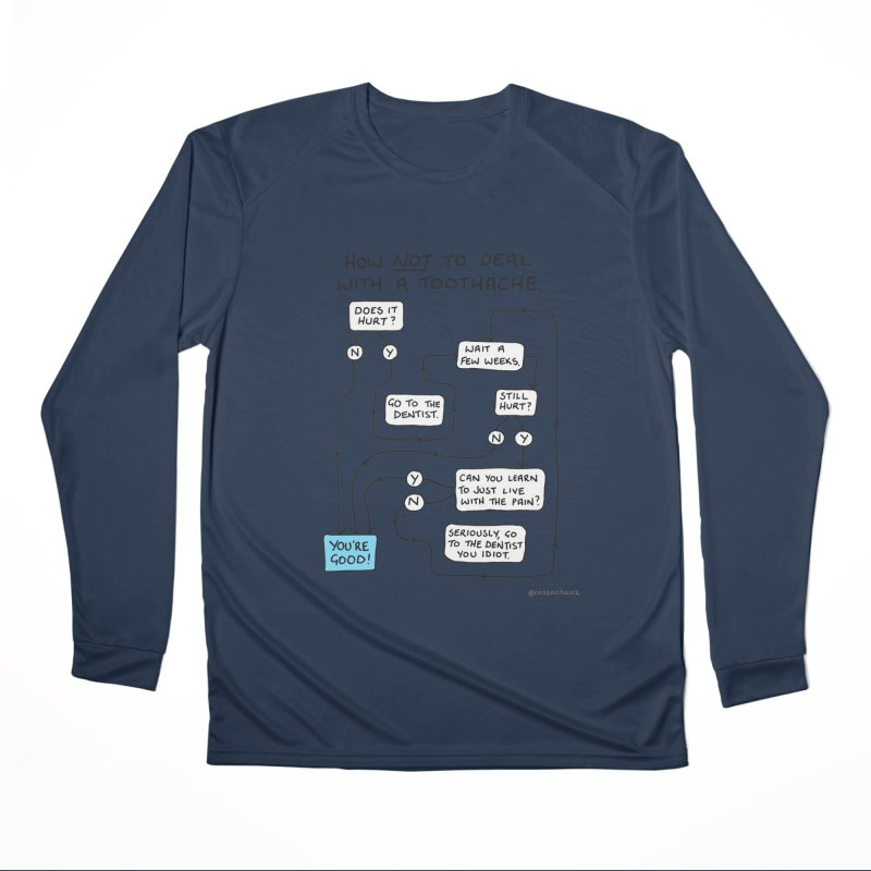 Toothache Comic (For The Dentist Waiting Rooms) Men's Performance Longsleeve T-Shirt by Prinstachaaz