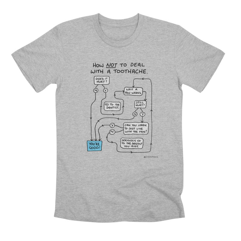 Toothache Comic (For The Dentist Waiting Rooms) Men's Premium T-Shirt by Prinstachaaz