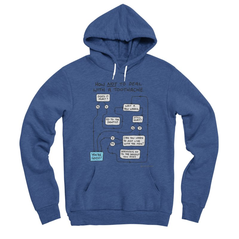 Toothache Comic (For The Dentist Waiting Rooms) Men's Sponge Fleece Pullover Hoody by Prinstachaaz