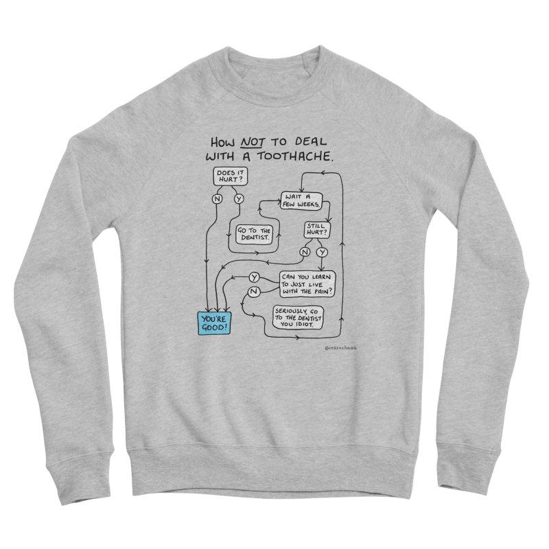 Toothache Comic (For The Dentist Waiting Rooms) Women's Sponge Fleece Sweatshirt by Prinstachaaz