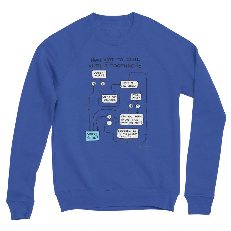 Toothache Comic (For The Dentist Waiting Rooms) Men's Sponge Fleece Sweatshirt by Prinstachaaz