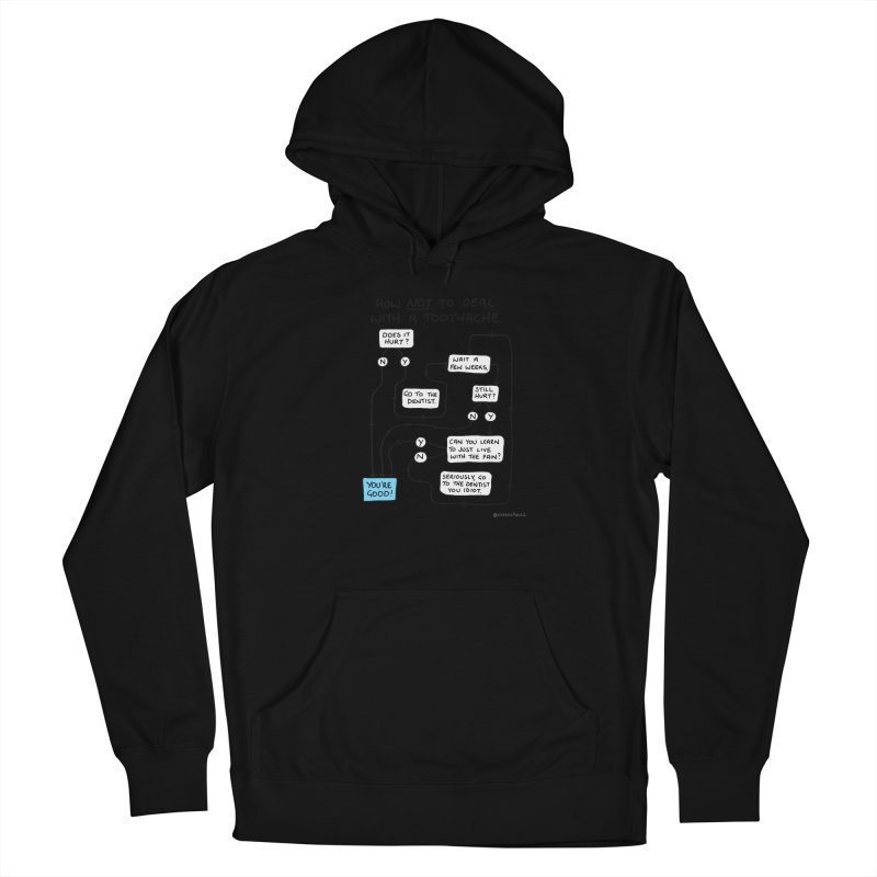 Toothache Comic (For The Dentist Waiting Rooms) Women's French Terry Pullover Hoody by Prinstachaaz