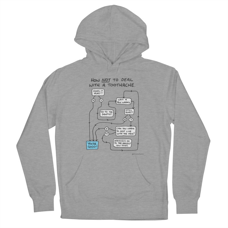 Toothache Comic (For The Dentist Waiting Rooms) Men's French Terry Pullover Hoody by Prinstachaaz