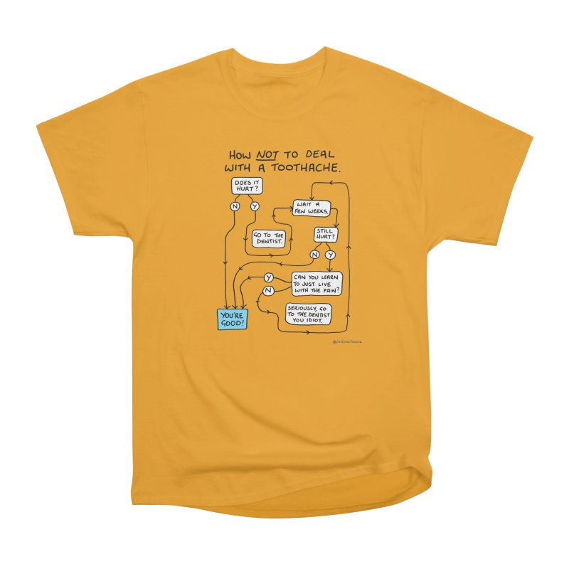 Toothache Comic (For The Dentist Waiting Rooms) Men's Heavyweight T-Shirt by Prinstachaaz